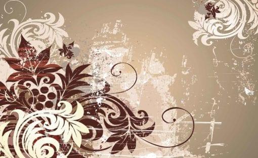 Fototapet med motivet: Blommor Abstrakt