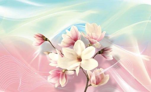 Fototapet med motivet: Blommor Abstrakt Design Rosa