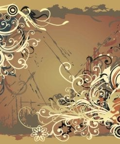 Fototapet med motivet: Blommor Abstrakt Färg