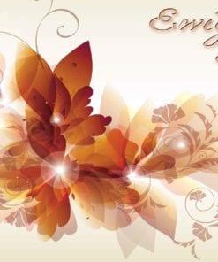 Fototapet med motivet: Blommor Abstrakt Wisp