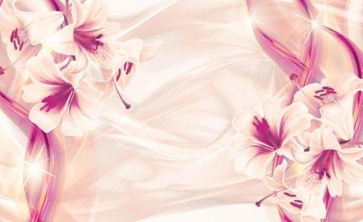Fototapet med motivet: Blommor Liljor Abstrakt Modern