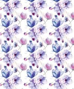 Fototapet med motivet: Blommor Mönster Lila