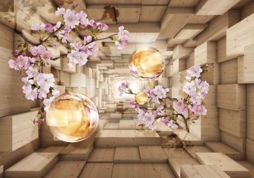 Fototapet med motivet: Blommor Mellan Planket