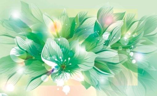 Fototapet med motivet: Blommor Natur Grön