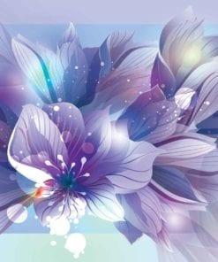 Fototapet med motivet: Blommor Natur Lila
