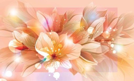 Fototapet med motivet: Blommor Natur Orange