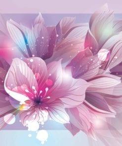 Fototapet med motivet: Blommor Natur Rosa Lila