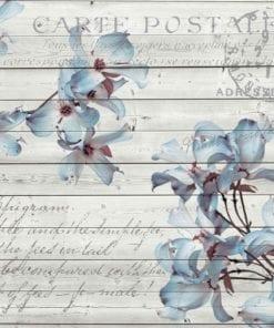 Fototapet med motivet: Blommor Trä Mönster Vintage