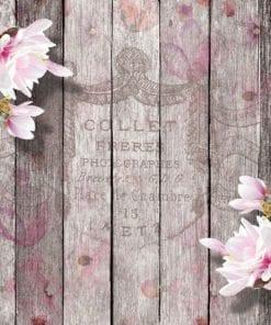 Fototapet med motivet: Blommor Trä Plankor