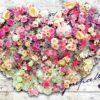 Fototapet med motivet: Blommor Vintage trä plankor Hjärta