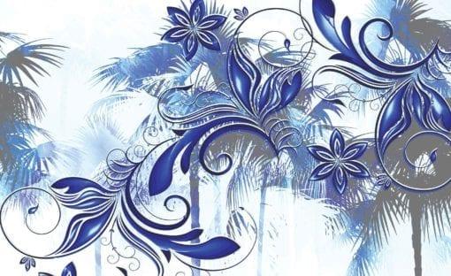 Fototapet med motivet: Blommor abstrakt konst