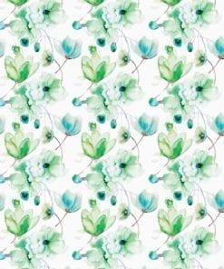 Fototapet med motivet: Blommor mönstrar Grön