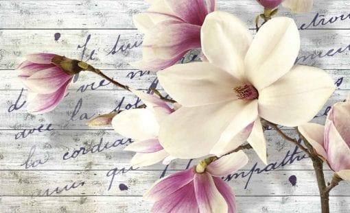 Fototapet med motivet: Blommor med bildtext