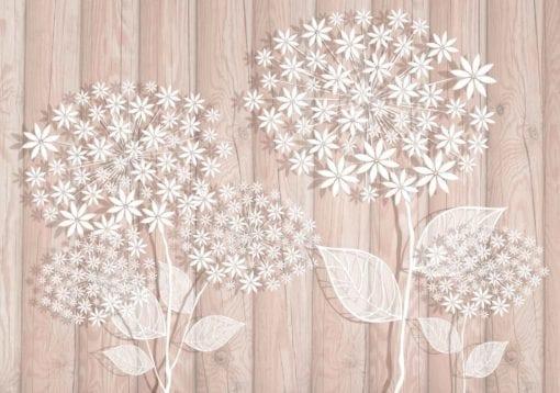 Fototapet med motivet: Blommor rosa bakgrund