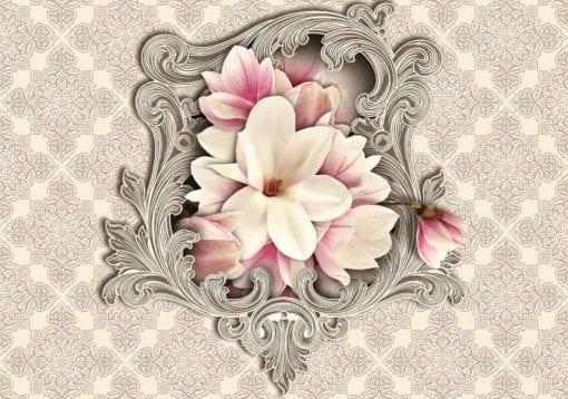 Fototapet med motivet: Blomstermotiv Mönster