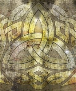 Fototapet med motivet: Celtic Mönster Rustik Textur