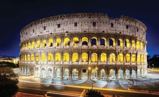 Fototapet med motivet: Coloseum på natten