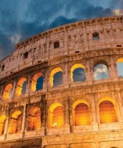 Fototapet med motivet: Colosseum stad Solnedgång
