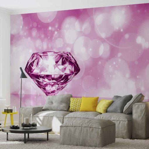 Fototapet med motivet: Diamant Rosa