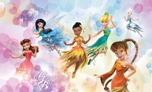 Fototapet med motivet: Disney Fairies Iridessa Fawn Rostta