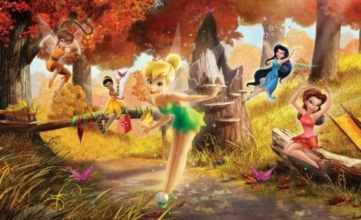 Fototapet med motivet: Disney Fairies Tingeling Rostta Klara