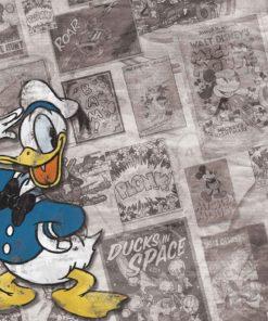 Fototapet med motivet: Disney Kalle Anka Tidningspapper Vintage