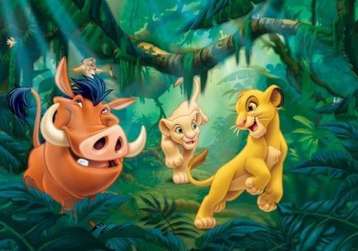 Fototapet med motivet: Disney Lejonkungen Pumba Simba