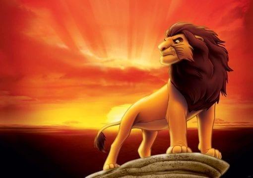 Fototapet med motivet: Disney Lejonkungen Pumba Soluppgång
