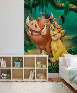 Fototapet med motivet: Disney Lejonkungen Pumba Timon Simba
