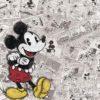 Fototapet med motivet: Disney Mickey Mouse Tidningspapper Vintage Musse pigg