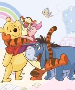 Fototapet med motivet: Disney Nalle Puh Nasse Tiger Ior