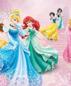 Fototapet med motivet: Disney Princesses Cinderella Aurora Prinsessor