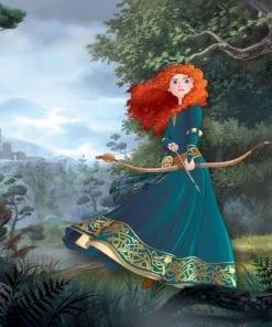 Fototapet med motivet: Disney Princesses Merida Brave Prinsessor