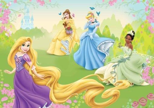 Fototapet med motivet: Disney Prinsessor Rapunzel Tiana Belle