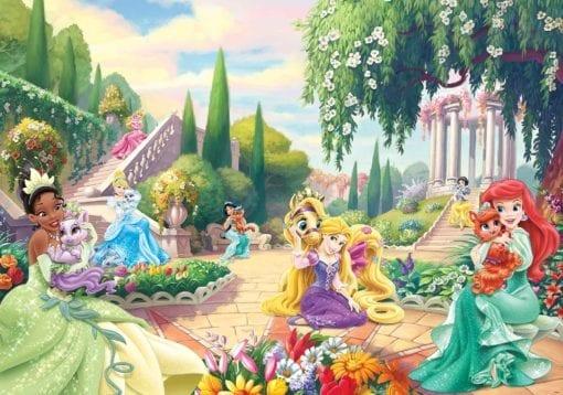 Fototapet med motivet: Disney Prinsessor Tiana Ariel Aurora