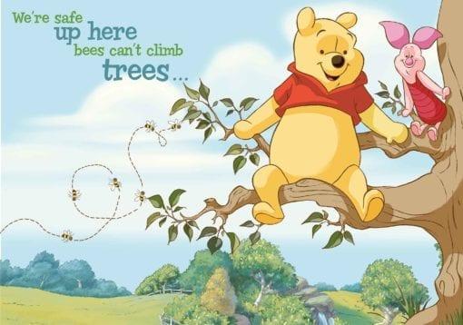 Fototapet med motivet: Disney Winnie Pooh Piglet Nalle Puh