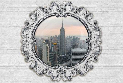 Fototapet med motivet: Empire State Building Spegel