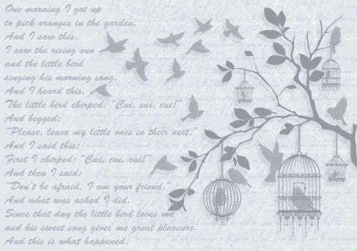 Fototapet med motivet: Fåglar Träd Bå