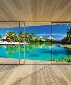 Fototapet med motivet: Fönster ö Karibien havet Tropisk