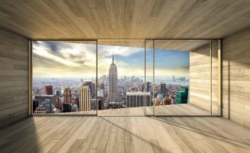 Fototapet med motivet: Fönster stadshorisont Empire State NewYork