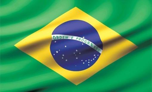 Fototapet med motivet: Flagga Brasilien