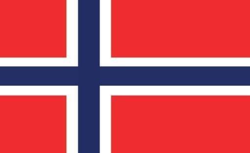 Fototapet med motivet: Flagga Norge