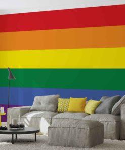 Fototapet med motivet: Flagga Regnbåge Gay Pride