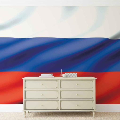 Fototapet med motivet: Flagga Ryssland