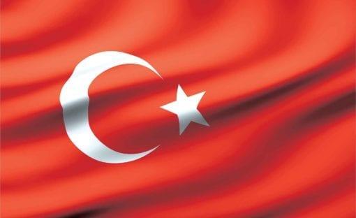 Fototapet med motivet: Flagga Turkiet