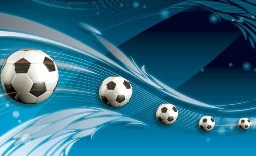 Fototapet med motivet: Football Blå Track