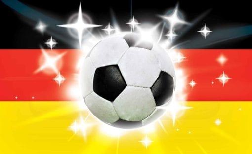 Fototapet med motivet: Football Tysk Flagga