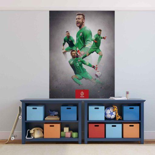 Fototapet med motivet: Fotboll Polen