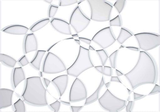 Fototapet med motivet: Grå Vit Abstrakt Cirklar