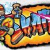 Fototapet med motivet: Graffiti Skate